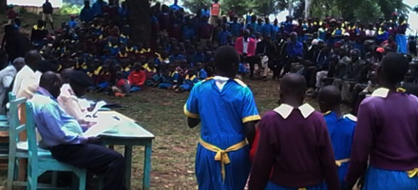 Sessia Primary school pupils entertain guest during the tree planting ceremony